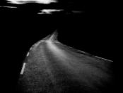 strada senza illuminazione