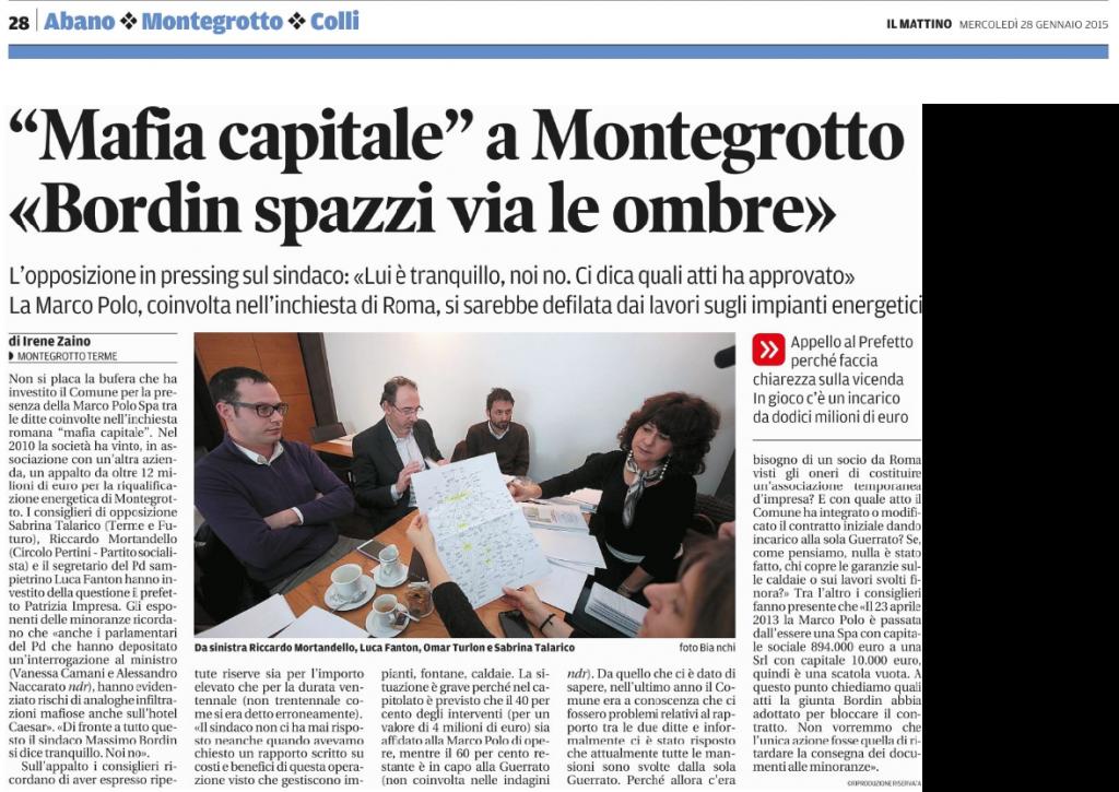 Mafia Capitale a Montegrotto Terme