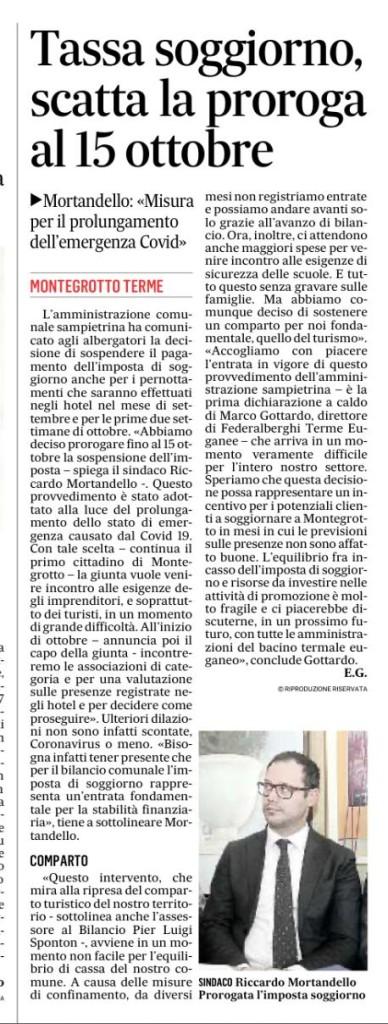 imposta sospesa Montegrotto terme