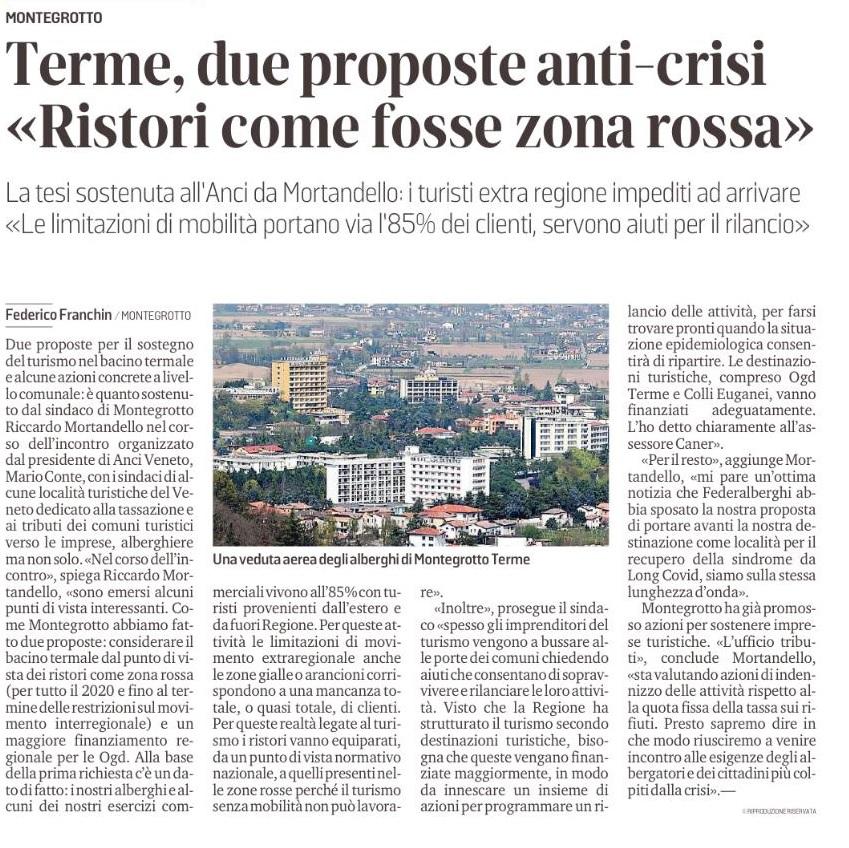 Terme due proposte del sindaco mortandello