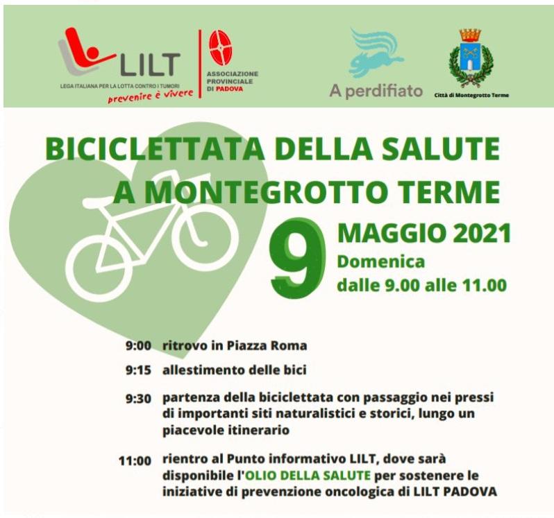 biciclettata per la salute a Montegrotto terme